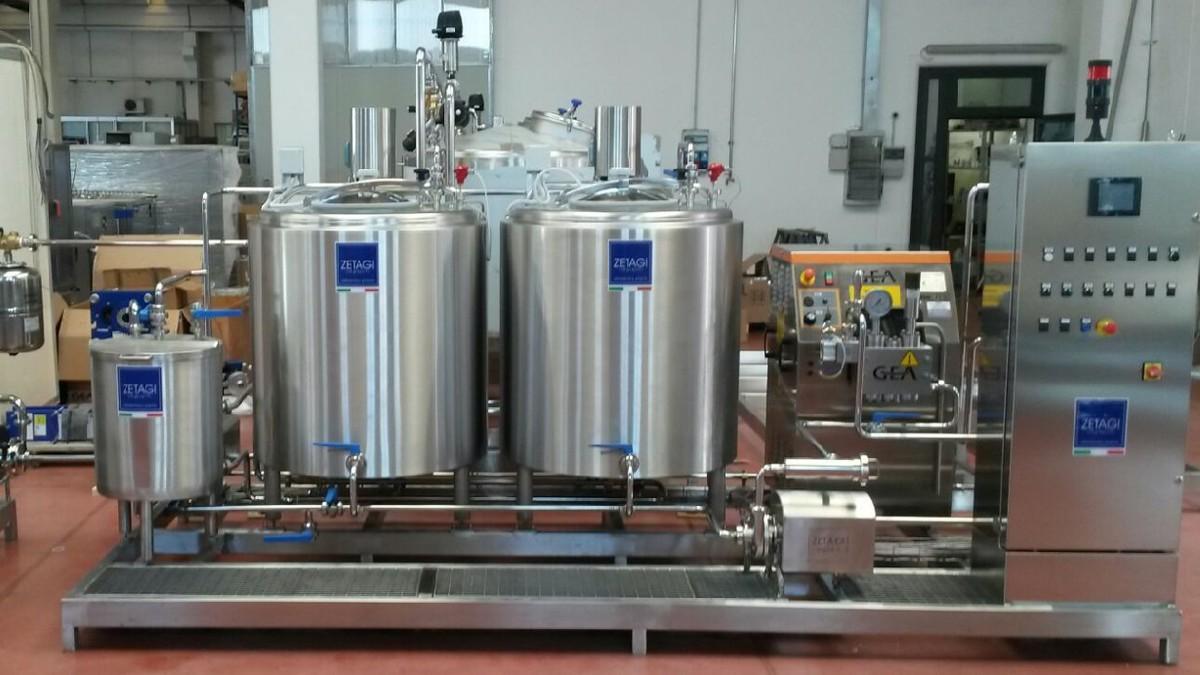Impianto pastorizzazione latte